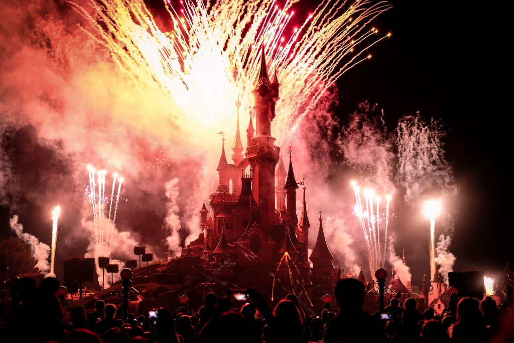 Fireworks at Disney Land in Paris, France, 2016