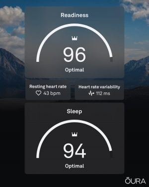 Oura Ring Sleep and Readiness Scores
